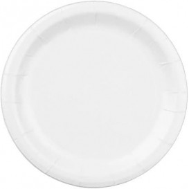 Assiette en Papier Blanc 22 cm (100 Unités)