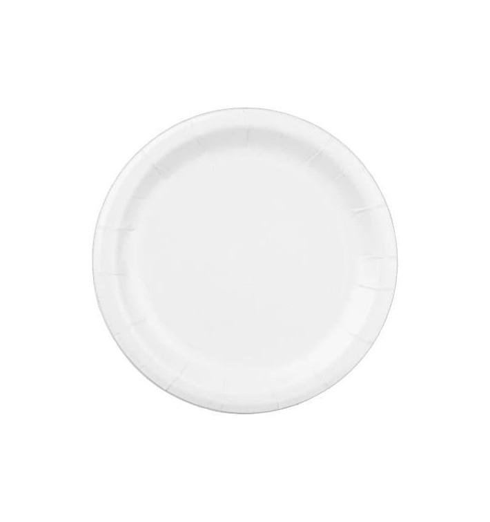 Assiette en papier Blanc Ø22 cm (400 Unités)