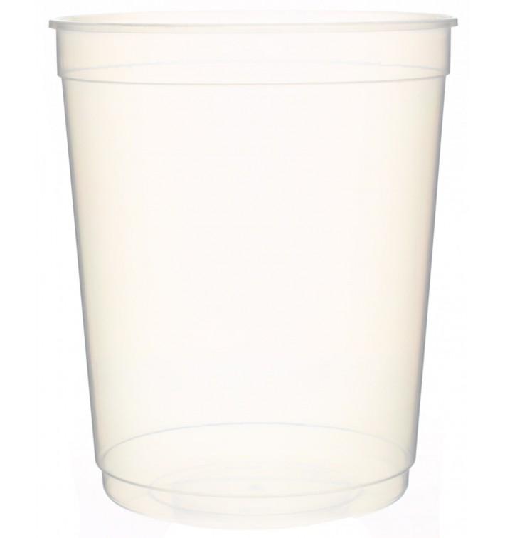 Pot en Plastique Transparent 1000ml Ø11,5cm (250Utés)