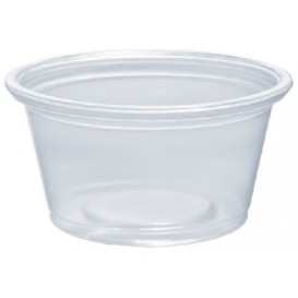 Pot à Sauce Plastique PP Trans. 25ml Ø48mm (2500 Utés)