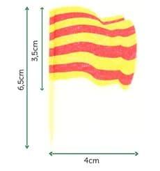 """Pique en Bois Drapeau """"Catalogne"""" 65mm (144 Unités)"""