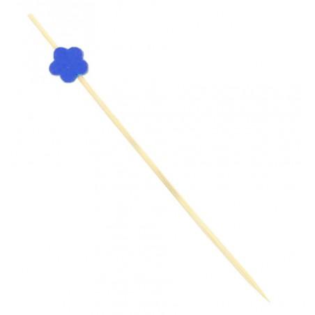 """Pique en bois """"Flor"""" Bleu 120mm (20 Unités)"""