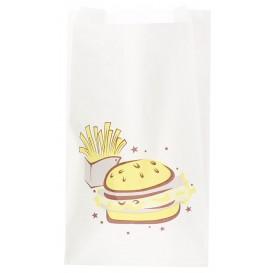 """Sachet Hamburger """"Saky Food"""" 14+7x24cm (1000 Utés)"""