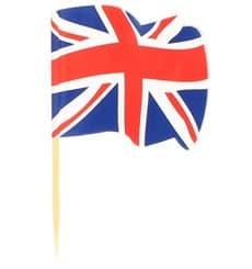 """Pique en Bois Drapeau """"UK"""" 65mm (144 Unités)"""