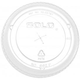 Couvercle Plat avec Passage PET Cristal Ø9,2cm (100 Utés)
