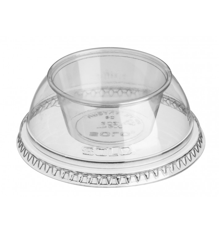 "Dôme avec Coupe PET Cristal ""Dress"" Ø9,2cm (100 Utés)"