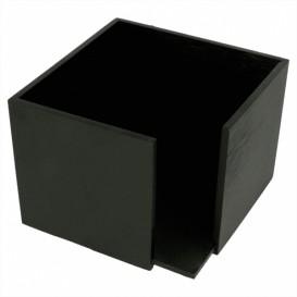 Porte-serviettes Cocktail Noir 13,5x13,5x10cm (12 Utés)