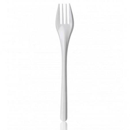 Fourchette Plastique Blanche 165mm (2000 Utés)