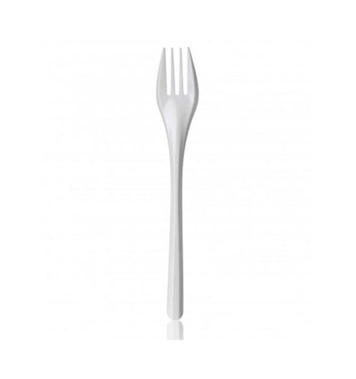 Fourchette Plastique Blanche 165mm (100 Unités)