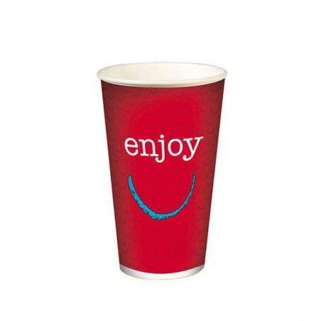 "Gobelet en Carton pour boissons froides 16oz/500ml ""Enjoy"" (50 Utés)"