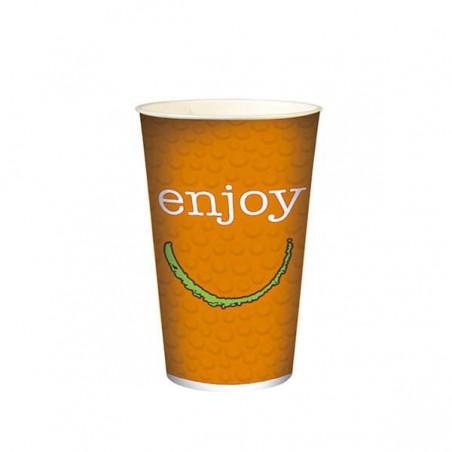 "Gobelet en Carton pour boissons froides 22oz/680ml ""Enjoy"" (50 Utés)"