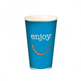 "Gobelet en Carton pour boissons froides 12oz/360ml ""Enjoy"" (100 Utés)"