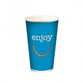 "Gobelet en Carton pour boissons froides 12oz/360ml ""Enjoy"" (1.000 Utés)"