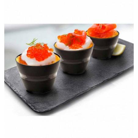 Assiette Creuse pour Dégust. Transp 7.5 X 7.5cm (8 Utés)