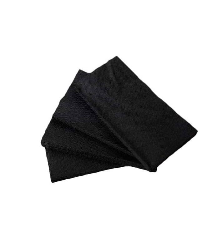 Serviette Papier molletonnée 1/8 40X40 Noire (1.200 Utés)