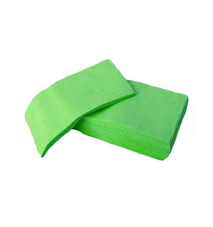 Serviette Papier molletonnée 1/8 40X40 Vert Po. (1.200 Utés)