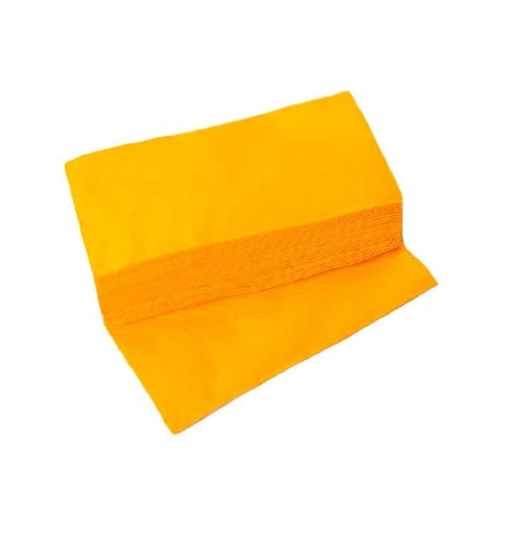 Serviette Papier Molletonnée 1/8 40X40 Jaune (1.200 Utés)