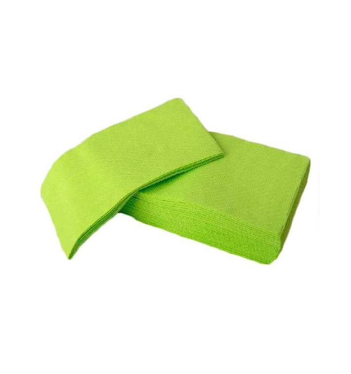 Serviette Papier molletonnée 1/8 40X40 Pistache (1.200 Utés)
