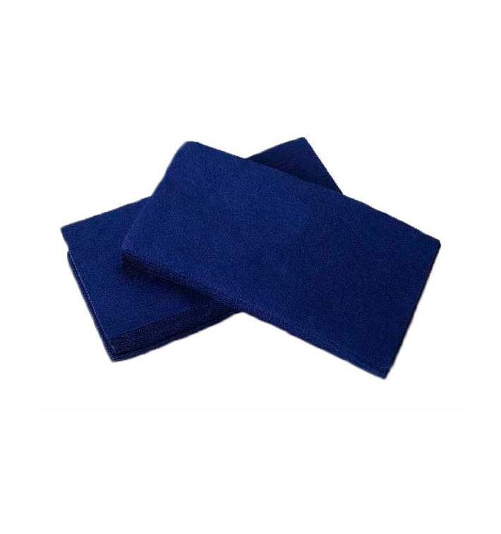 Serviette en papier molletonnée 1/8 40X40 Bleu (50 Unités)