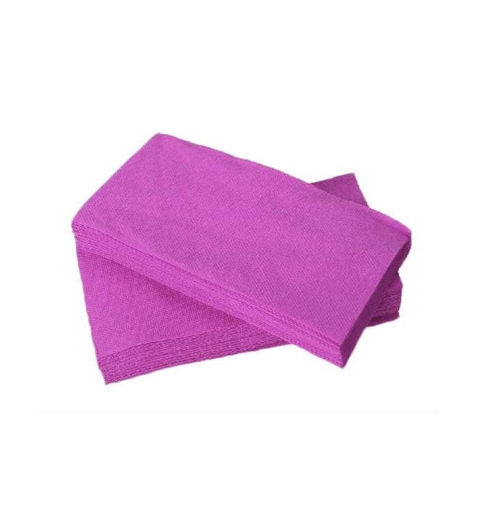 Serviette Papier molletonnée 1/8 40X40 Violet (1.200 Utés)