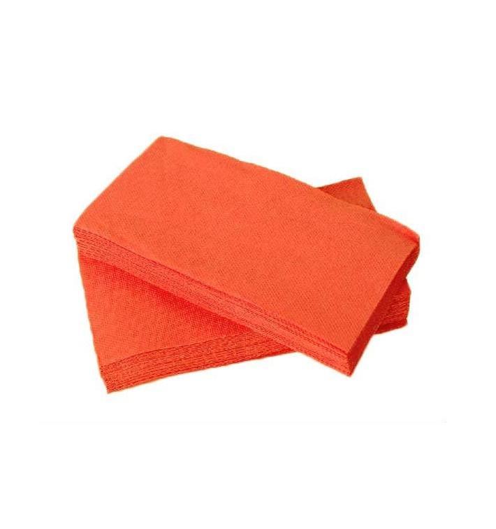 Serviette en papier 1/8 40X40 SAUMON  (50 Unités)
