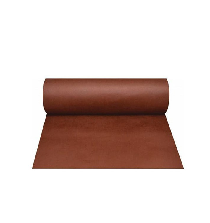 Chemin de Table PP Non Tissé 40x100cm Marron 50g (500 Utés)