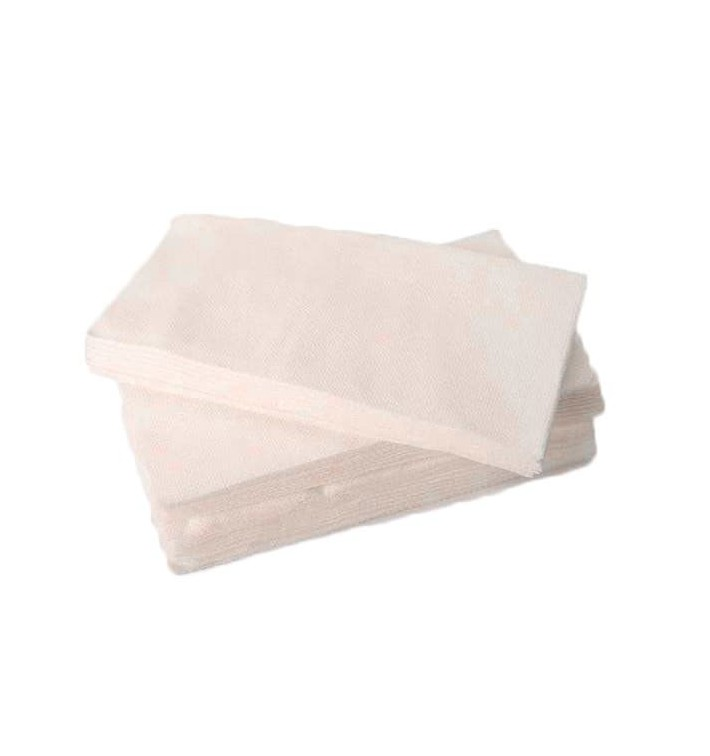 Serviette en papier molletonnée 1/8 40X40 BLANC (50 Unités)