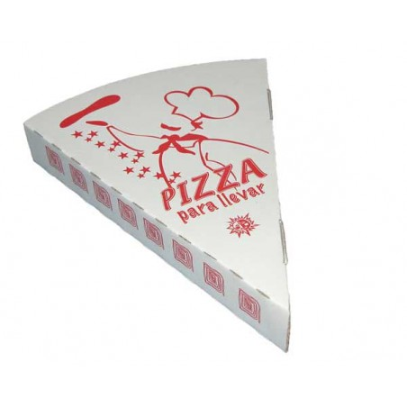 Cuña Porción Pizza para llevar  (350 Uds)