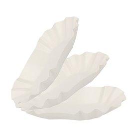 Barquette en Carton Ovale Plastifiée 15,5x9,5x2,5cm (250 Utés)