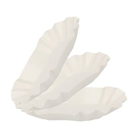 Barquette Carton Ovale Plastifiée16,5x10x3,5cm(1.000 Utés)