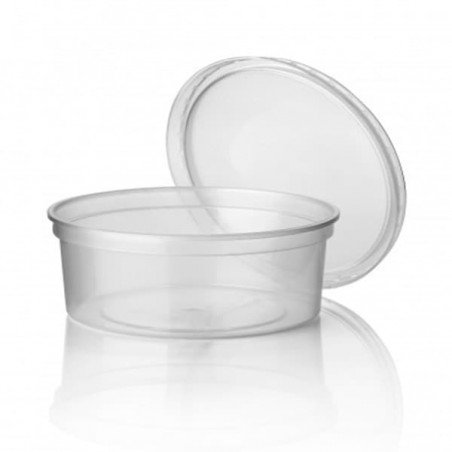 Pot en Plastique Transparent 350ml (Paquet 50Utés)