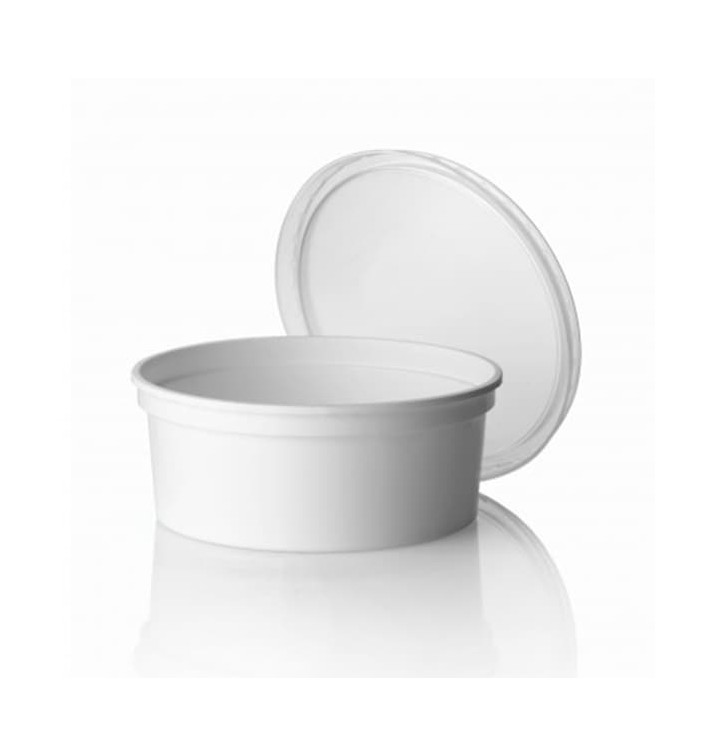 Pot en Plastique Blanc 350 ml  Ø11,5cm (50 Utés)