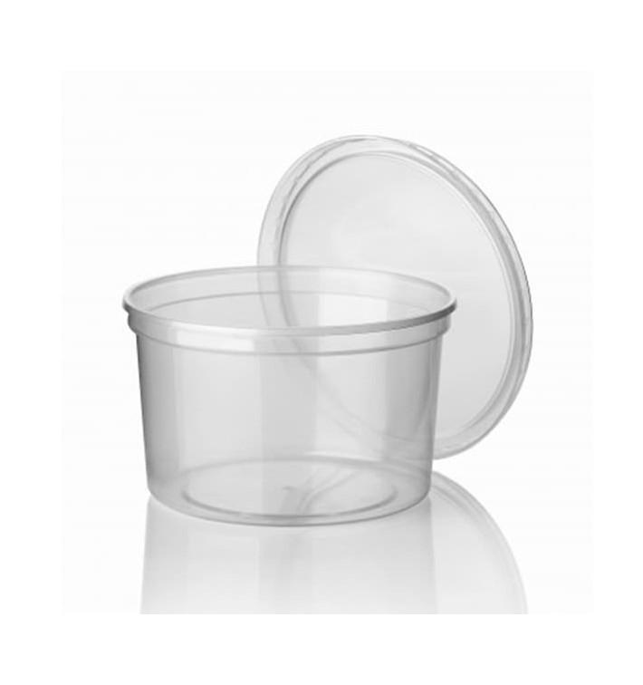 Pot en Plastique Transparent 500ml  Ø11,5cm (500 Utés)