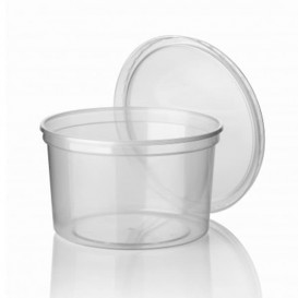 Pot en Plastique Transparent 500ml (50 Utés)