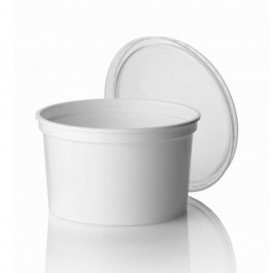 Pot en Plastique Blanc 500ml (50 Utés)