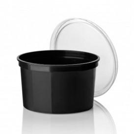 Pot en Plastique Noir 500cc (50 Unités)