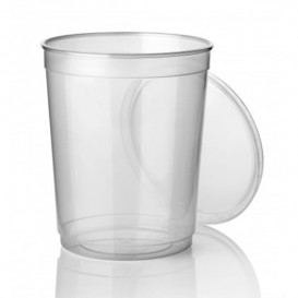 Pot en Plastique Transparent 1000ml (50 Utés)
