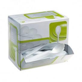 Cuillère Plastique Blanc 175mm en Distributeur (250 Unités)