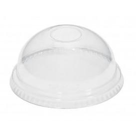 Courvercle Dôme Non Perforé PET Cristal Ø9,3cm (100 Unités)