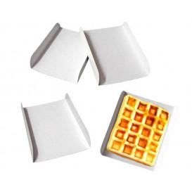 Emballage blanc pour gaufre 15x13x2 cm (1500 Unités)