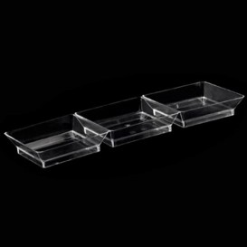 Saucières 3 Compartiments transp. 19x6,2x2,5cm (250 Utés)
