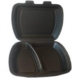 Boîte en FOAM 2 Compartiments Noir (125 Unités)