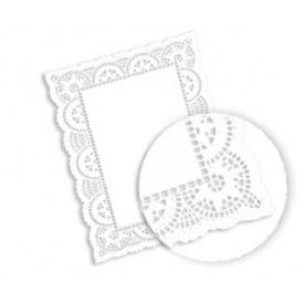 Dentelle Rectangle en papier 20x30cm (250 unités)