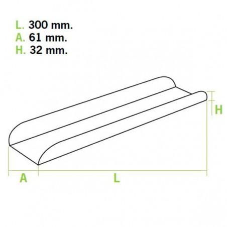 Plateau à sandwich 30x6,1x3,2cm (25 Unités)