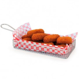 Mini friteuse de Présentation en Acier 22x10x6cm (6 Unités)