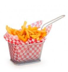 Mini friteuse de Présentation en Acier 10x10x7,5cm(6 Unité)