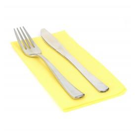 Serviette en papier molletonnée 1/8 40X40 Jaune (50 Unités)