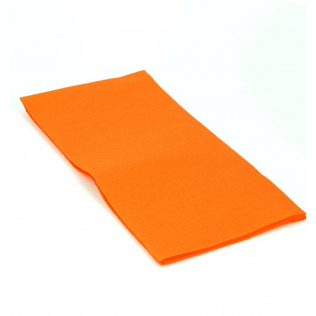 Serviette en papier 1/8 40X40 ORANGE (50 Unités)
