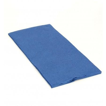 Serviette en papier 1/8 40X40 Bleu (50 Unités)