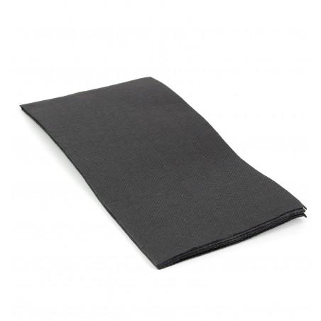 Serviette en papier 1/8 40X40 NOIRE (1.200 Unités)